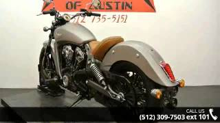 2015 Indian Scout Silver Smoke  - Dream Machines Indian M...