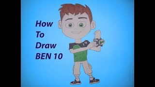 How to draw ben 10 step by step easily-Draw With Shamim