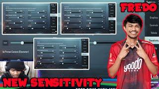 FREDO SENSITIVITY SETTING & LAYOUT | SENSITIVITY | 4 FINGER | GYRO ALWAYS ON | YOODO FREDO |