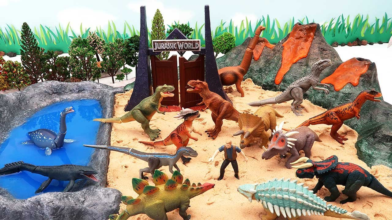 Dinosaur Volcano Island - Dinosaur Jungle Toys With Jurassic World