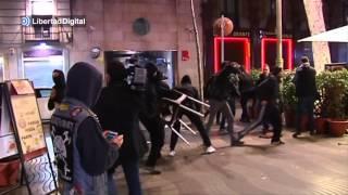 Graves disturbios en Barcelona tras la manifestación de apoyo a Gamonal