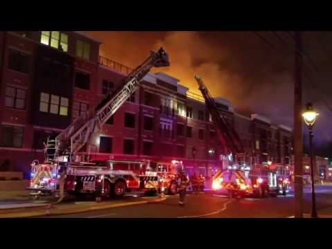 Maplewood, Nj 6th Alarm Fully Involved Apartment Complex (Boyden Ave ) 2-4-17 P-1
