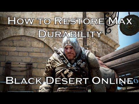 How to Restore Max Durability to an Item - Black Desert Online (BDO)