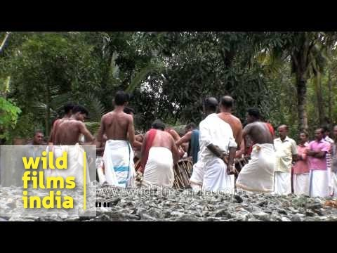 Chenda melam group during Mother Marry feast celebration, Kerala