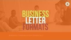 Business Letter Formats