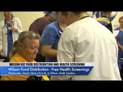 Wilson Food Distribution - Free Health Screenings In Wilson, North Carolina - Wed. Mar. 22nd