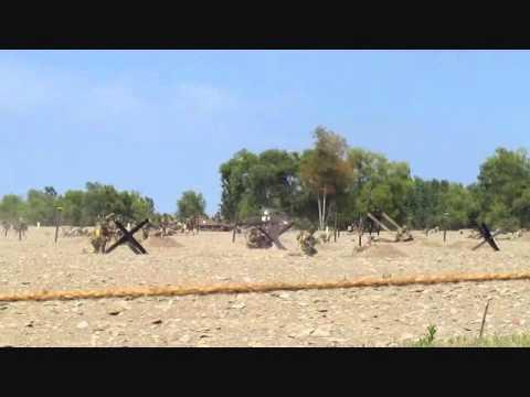 D-Day Conneaut World War II Reenactment (Beach Battle Highlights) -- August  17, 2013