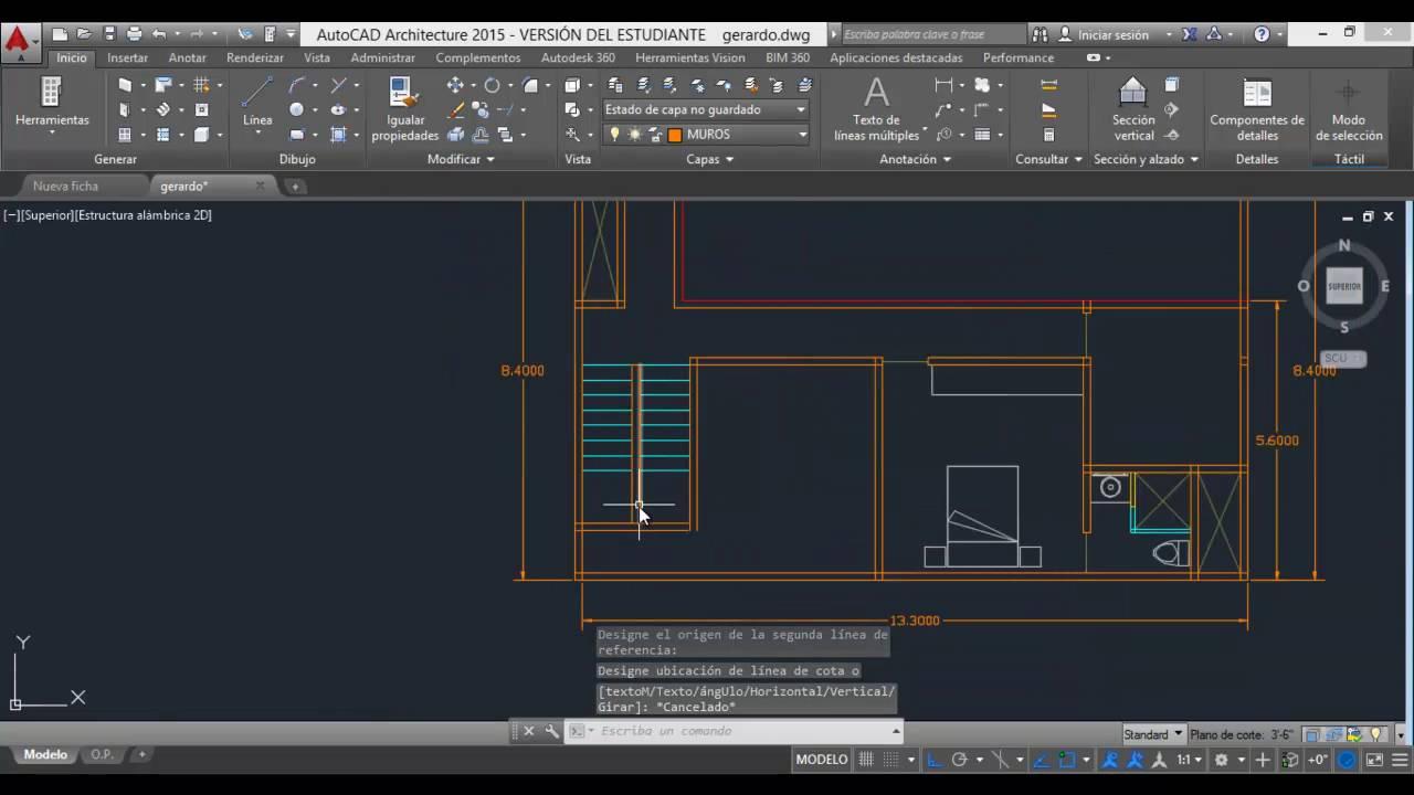 Dise o de escalera en planta arquitect nica c02 youtube for Escaleras en planta
