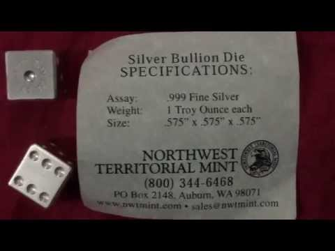 NWTM 1oz pure silver bullion