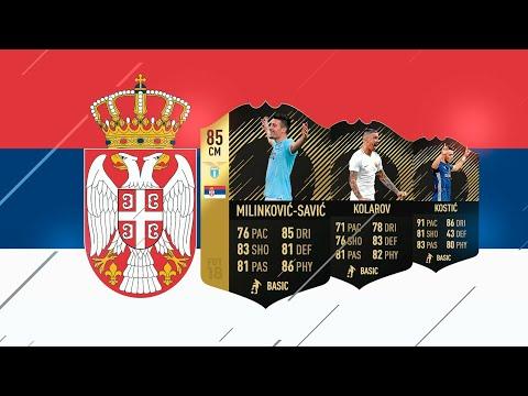 LA MEJOR PLANTILLA DE SERBIA EN FIFA 18 !!!
