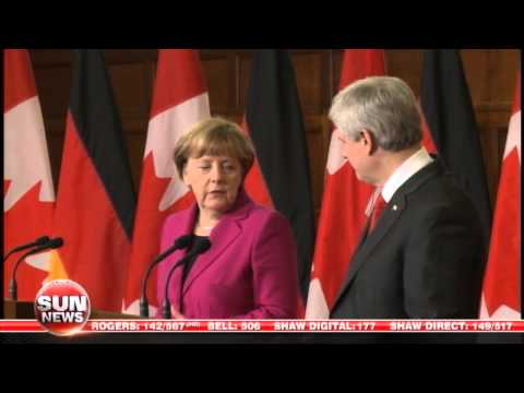 Harper, Merkel Discuss Ukraine Peace Process