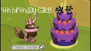 Animal Jam - 4th Birthday Cake Secret Order | Chocospriinkles