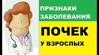 Признаки заболевания почек у взрослых