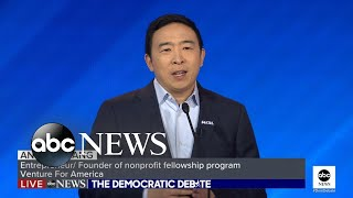 Andrew Yang grateful to return to debate stage l ABC News