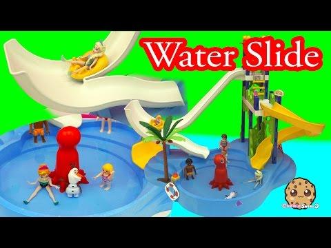Disney Frozen Queen Elsa & Princess Anna Water Pool Slide Park Fun - Cookieswirlc