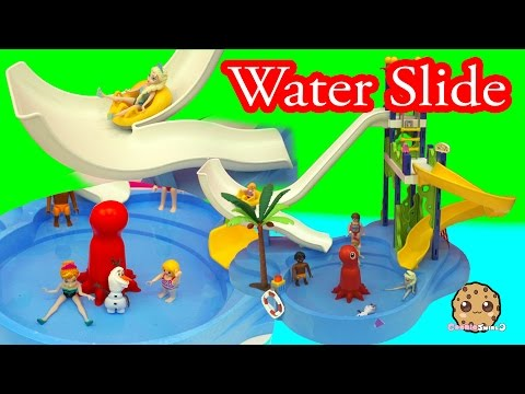 Disney Frozen Queen Elsa & Princess Anna Water Pool Slide Park Fun - Cookieswirlc