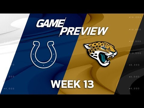 Indianapolis Colts vs. Jacksonville Jaguars | NFL Week 13 Game Preview