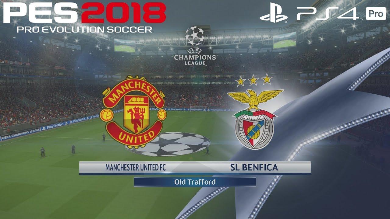 PES 2018 (PS4 Pro) Manchester United v Benfica UEFA