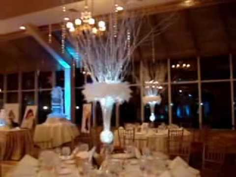 Winter Wonderland Themed Centerpieces Amp Sweet 16 Candelabra At The Venetian Yacht Club Babylon