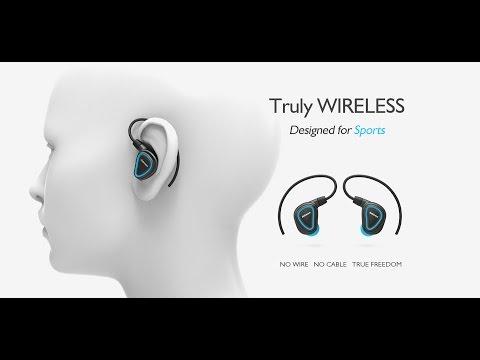 eb13e42da87 Jabees Shield-True Wireless Fitness Earbuds with Detachable Earhooks -  YouTube