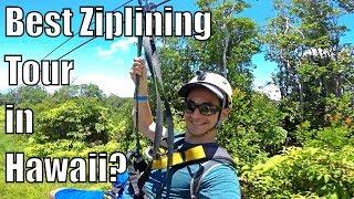 ZIPLINING OVER THE JUNGLE IN HAWAII ! 👌🌴  (KAPOHOKINE ADVENTURES)