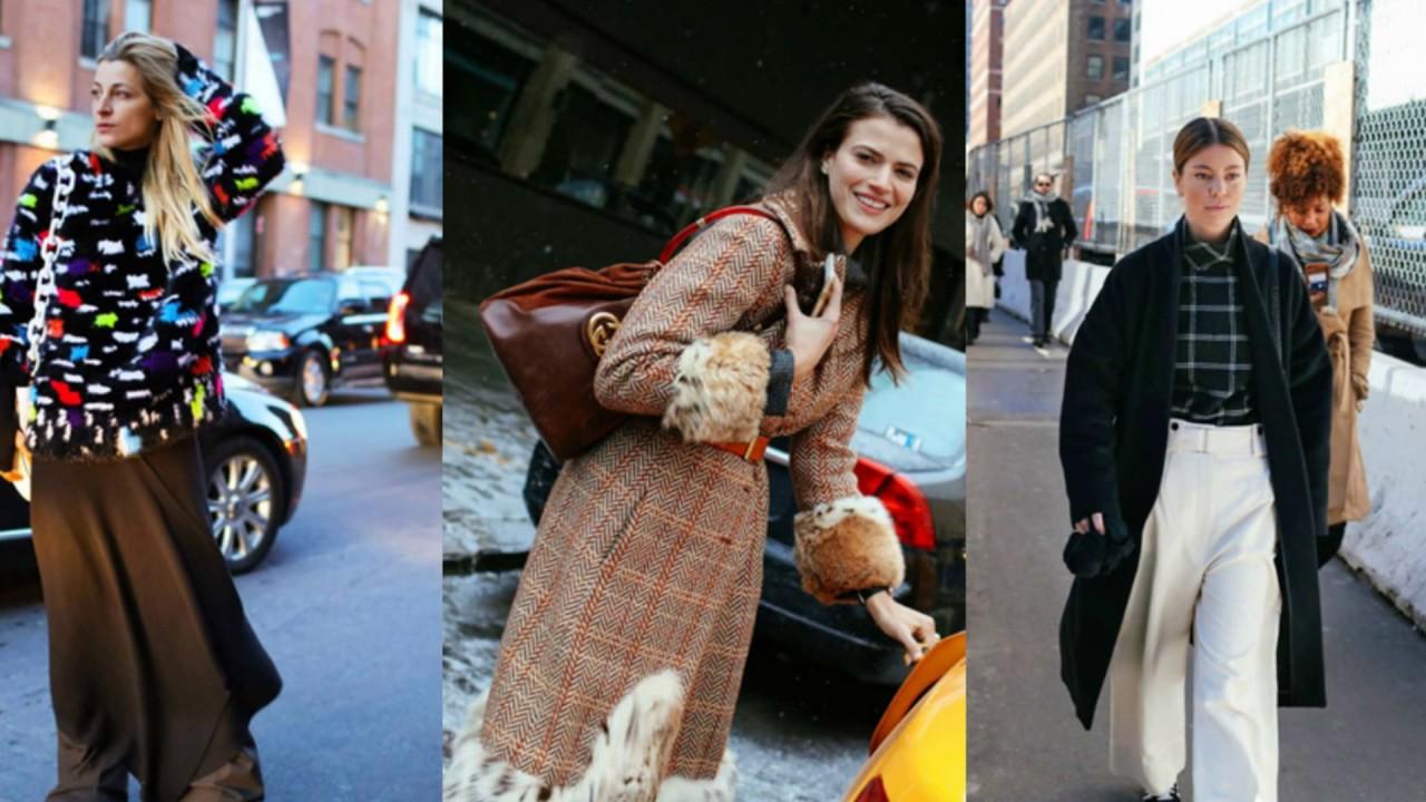 Уличная Мода: Осень-зима 2019-2019/Неделе - девушки уличная мода