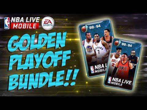 NBA LIVE MOBILE GOLDEN PLAYOFF BUNDLE!! BOTH SAT & SUN BUNDLES!!