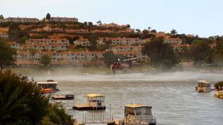 Lake San Marcos Fire Fight helicopter