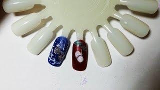 2 Proste świąteczne zdobienia paznokci  - easy Christmas nails tutorial