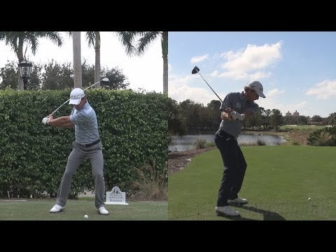CHARLES HOWELL - SYNCED DRIVER GOLF SWING FACE-ON & DTL REG & SLOW MOTION - 1080p HD