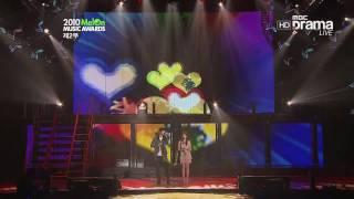 101215 mel0n music awards jung min ft iu nagging