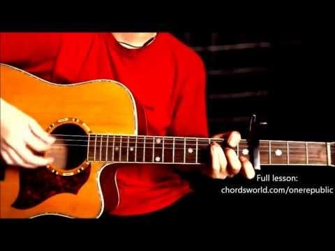 "Counting Stars Chords ""OneRepublic"" ChordsWorld.com Guitar Tutorial"
