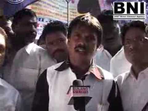 BULAND NEWS - RPI leader Mr. Ramesh Gaikwad protest against Mr. chagan bhujbal