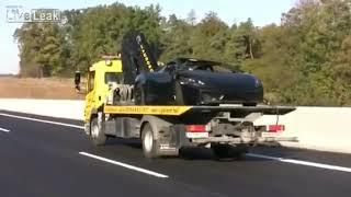 Go-kart racing on the freeway