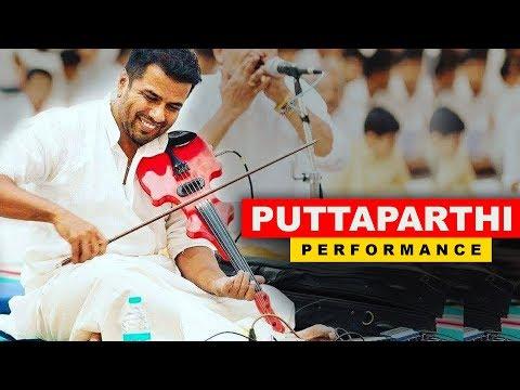 Balabhaskar Performance  At Puttaparthi | Thillana | Onam Celebrations