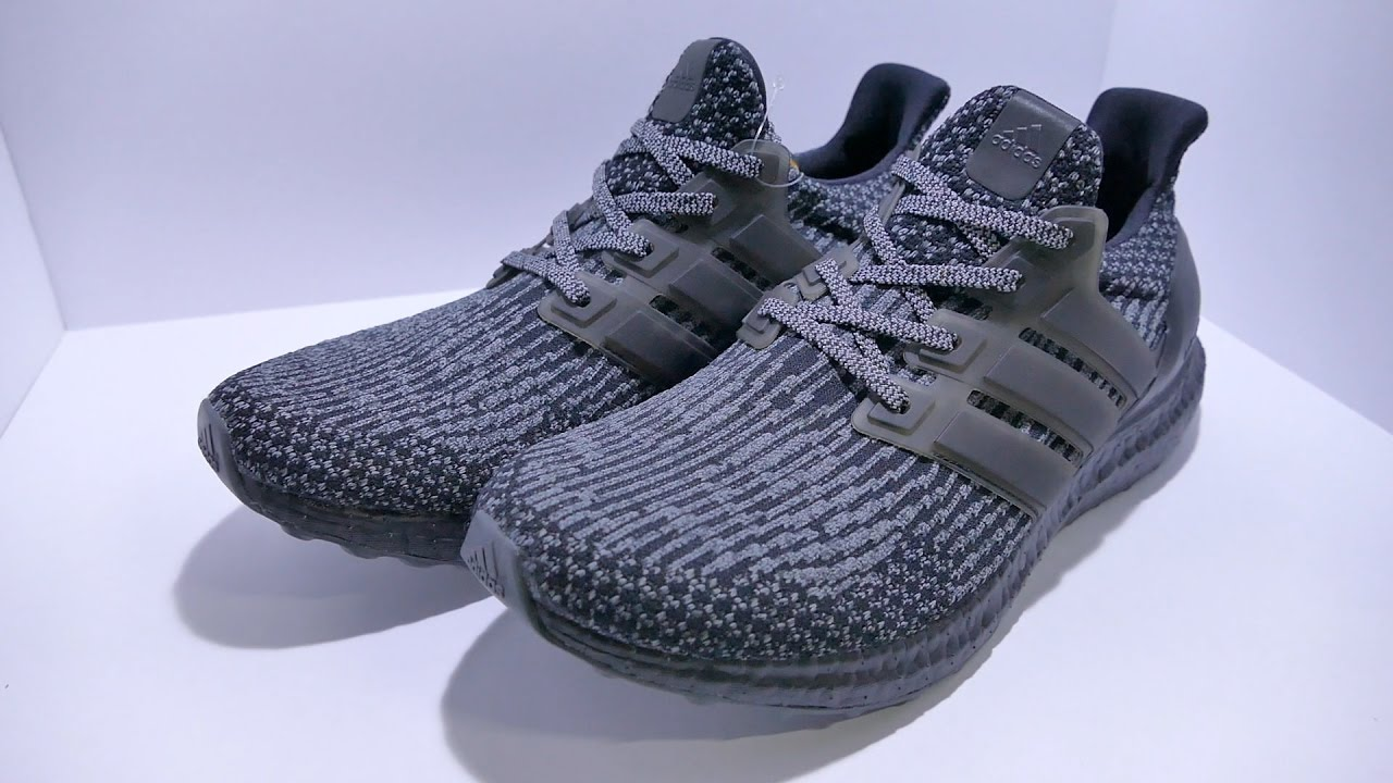 huge selection of 9a72e e228a Adidas UltraBOOST black, silver Triple Black Unboxing and Close Look