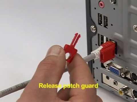 Patch Guard - Lockable mechanical plug-out protection