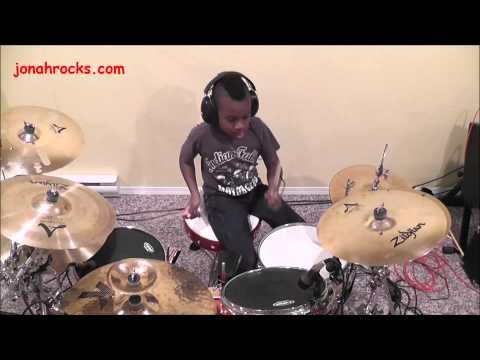 Aerosmith - Dude Looks Like A Lady, 9 Year Old Drummer, Jonah Rocks