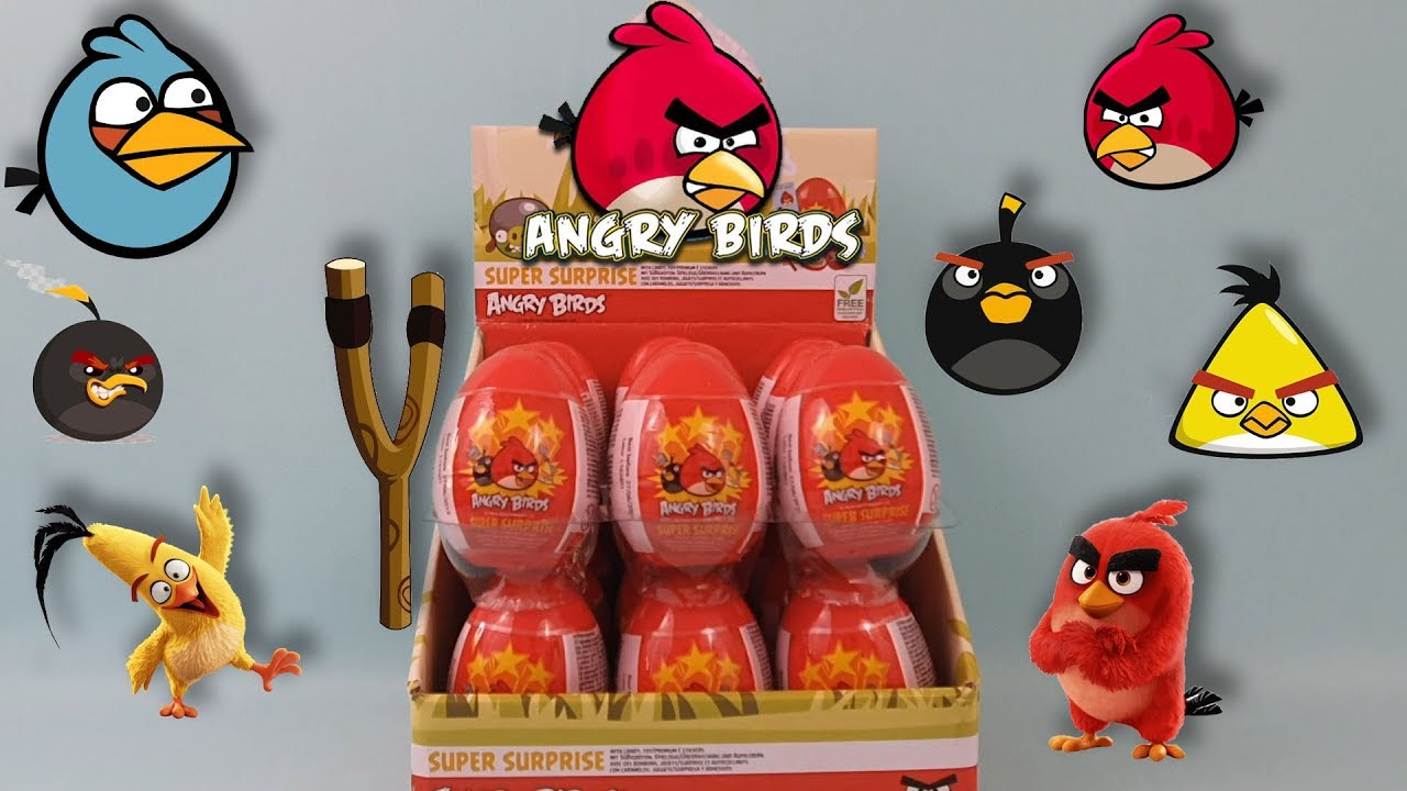18 x Angry Birds Surprise Egg