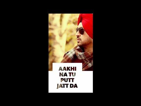 Putt Jatt Da Whatsapp Status Full Screen   Dilijit Dosanjh   Ikka   New Song 2018