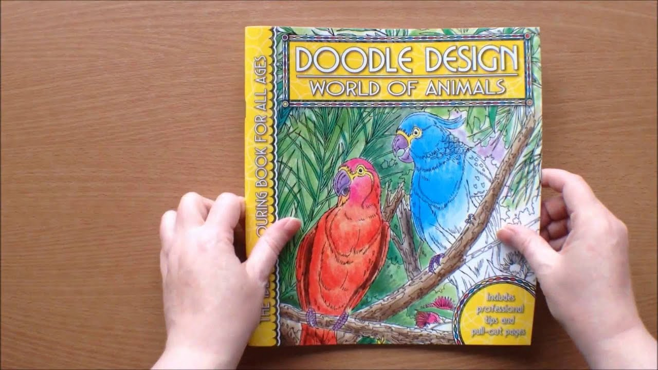 Doodle Designs World Of Animals Colouring Book Flipthrough