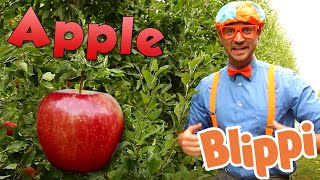 Learning Healthy Eating With Blippi - Apples Factory | Educational Videos For Kids