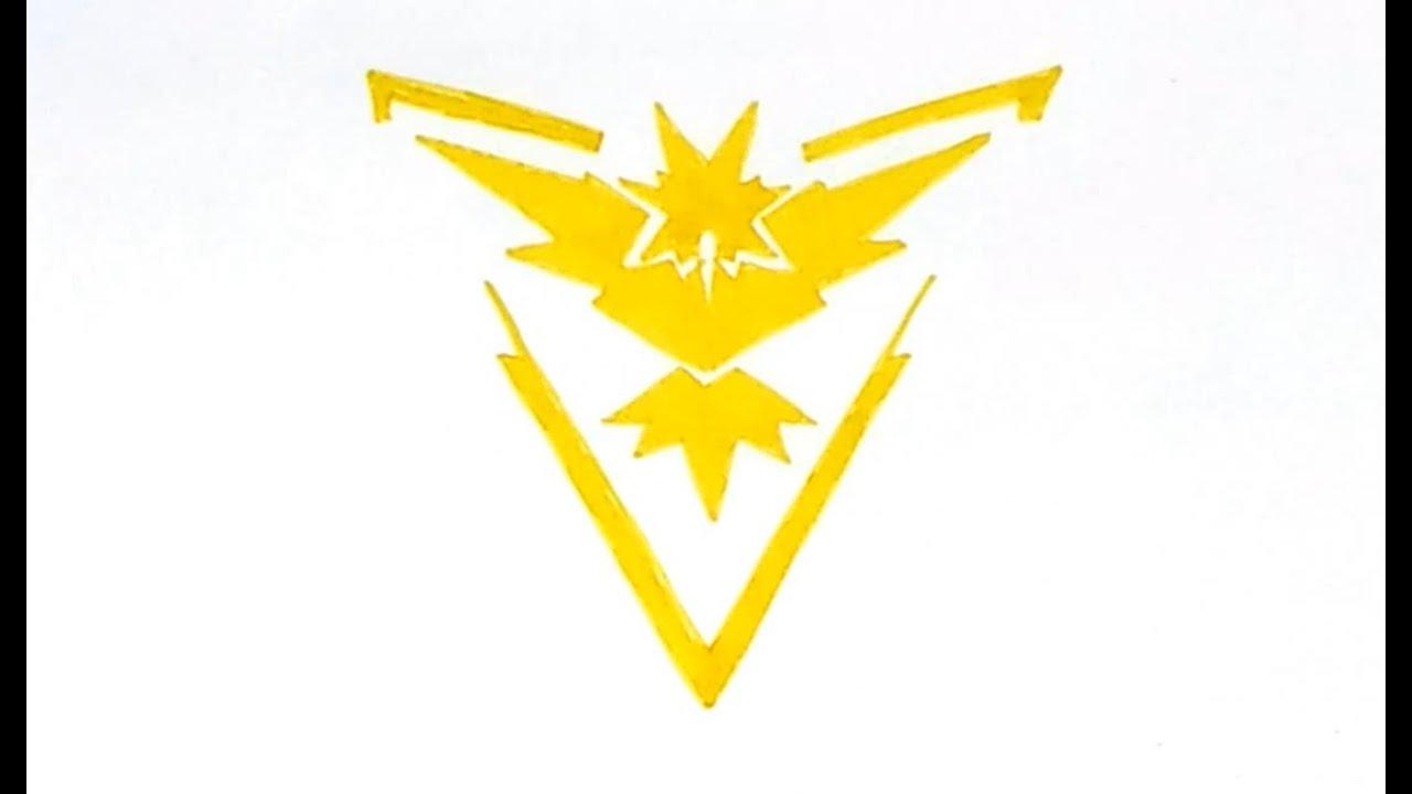 How To Draw The Pokémon Go Team Instinct (Yellow) Logo