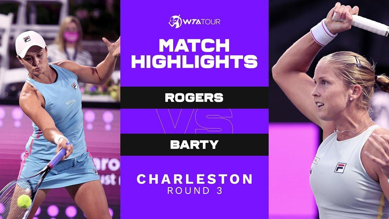 Ashleigh Barty vs. Shelby Rogers   2021 Charleston Round 3   WTA Match Highlights