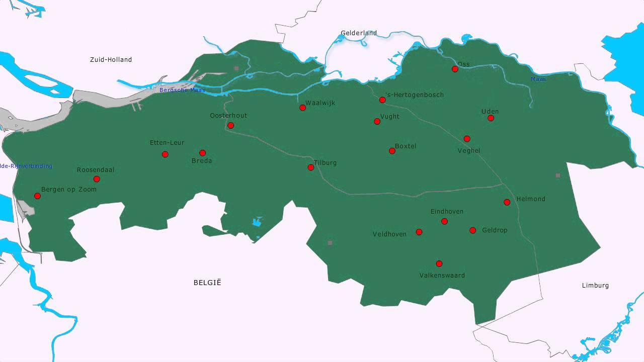 Topografie Provincie Noord Brabant Www Topomania Net