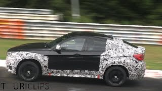 2015 BMW X6M F86 continues testing on the Nürburgring and drops some camouflage!(BMW continues testing the 2015 F86 X6M on the Nürburgring and has taken some more camouflage off of the prototype, unveiling the production rear lights., 2014-08-02T15:30:01.000Z)