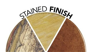 Textured And Colored Wood Stain Finish