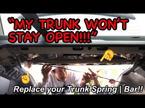 How To Install: Trunk Spring Opener | 03-07 Honda Accord | DIY Installation Clip & Trunk Torsion Rod