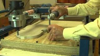 Duplicating A Violin Plate With The Gemini Wood Carver