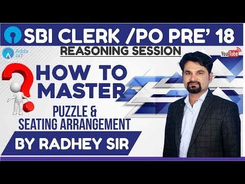 How To Master Puzzle & Seating Arrangement   Radhey sir   Call us 8750016167
